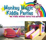 Monkey Magic Kiddie Parties delivers a host of party services as well as various Jumping Castles and Inflatables in most areas.