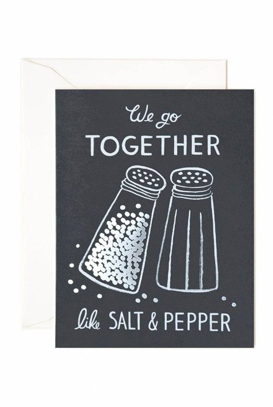 Rifle Paper Co - Card - Salt and Pepper  - Available from NoteMaker.com.au #Valentinesday #Valentines #Valentinecards