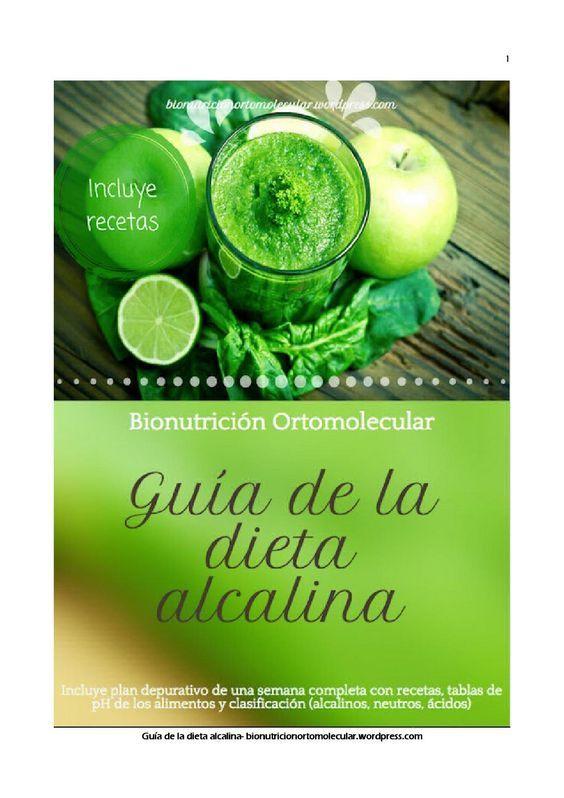 Guía práctica de la dieta alcalina, incluye un plan semanal con recetas fáciles y sabrosas. Biorritmos del pH para aprender a medirlo en orina y tablas de pH de los alimentos. Diseñado por Bionutrición Ortomolecular