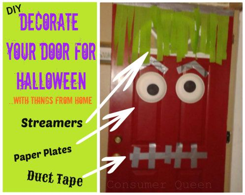 Best 25 Halloween Door Decorations Ideas On Pinterest