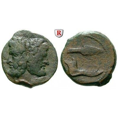 Sizilien, Panormos, Bronze nach 241. v.Chr., ss: Bronze 22 mm nach 241. v.Chr. Januskopf mit Lorbeerkranz / Speerspitze und… #coins