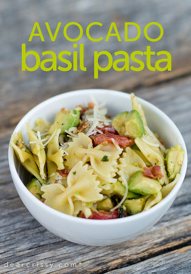 Avocado Basil Pasta - so light, fresh and flavorful. T