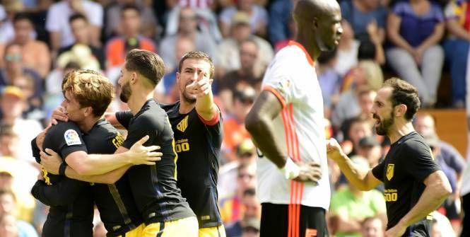 Foot - Espagne - 7e j. - Liga Antoine Griezmann et Kevin Gameiro ont permis à l'Atlético de Madrid de battre Valence - L'Équipe.fr