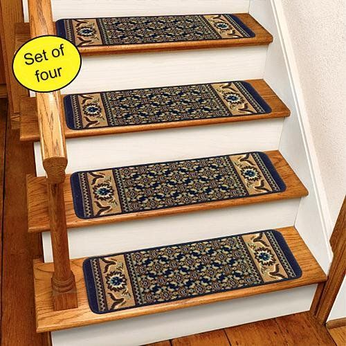 Blue Rug Carpet Stair Treads Set Of 4 CST260B Stair Treads Http://www