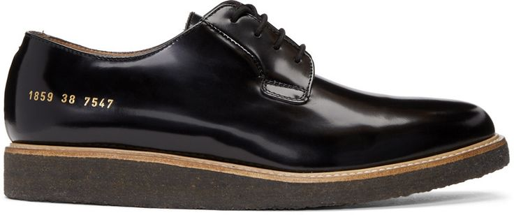 Common Projects - Black Shine Derbys