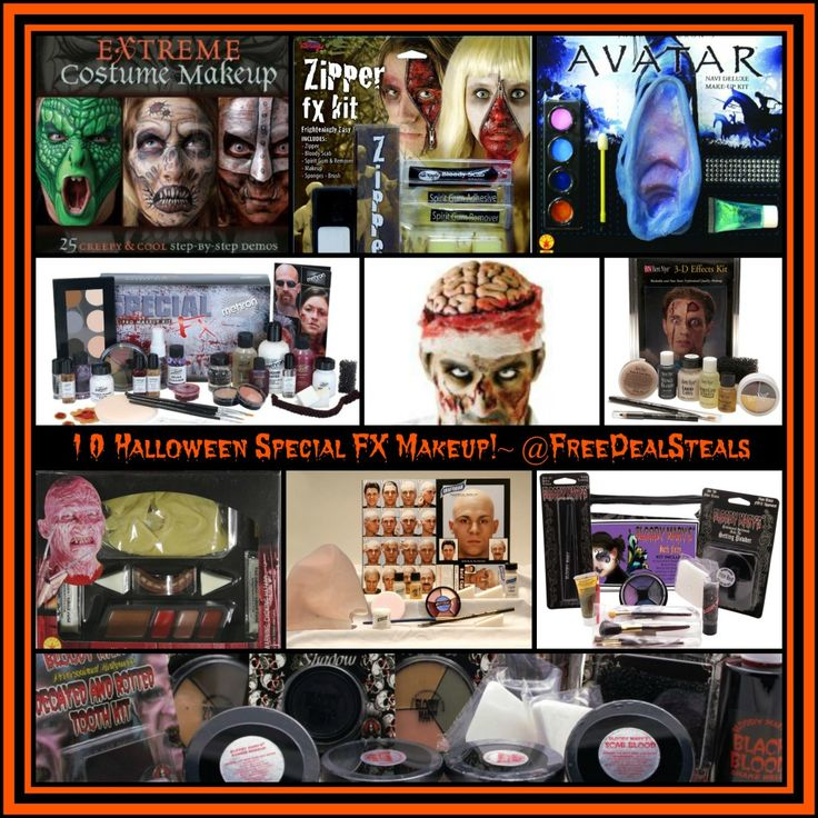 10 Special FX Halloween Makeup Kits Tips Ideas!