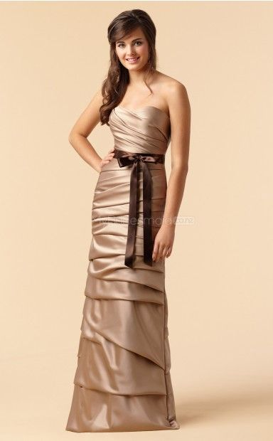 Black Satin Sheath Sweetheart Floor-length Bridesmaid Dresses(NZBD06173)