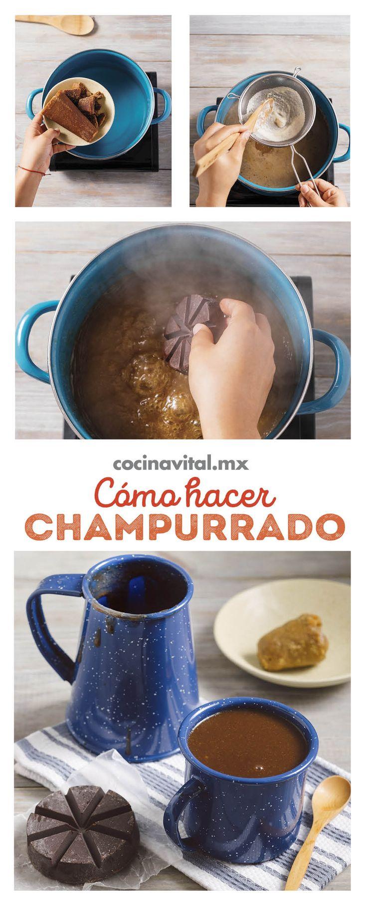 Esta receta de atole champurrado es completamente tradicional en México, es una delicia y por años las abuelitas nos han deleitado con esta exquisita bebidas, ¡ahora te toca a ti prepararla y consentir a la familia! Mexican Drinks, Mexican Food Recipes, Champurrado, Guatemalan Recipes, Kitchen Cooker, Tamales, Learn To Cook, Flan, Bon Appetit