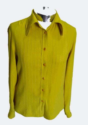 #camicia #donna  #vintage #gianni #versace  #gialla  #taglia #42 #usata #shirt  #used  #yellow