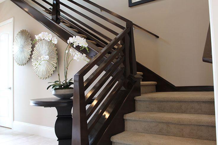 Contemporary Horizontal Maple Stair Rails Wooden Pinterest