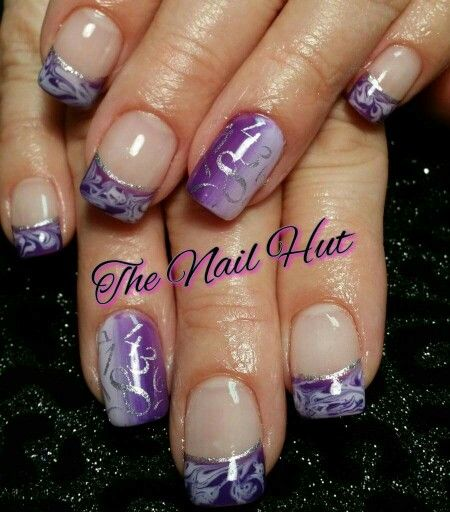 Purple marble and ombre with silver Feb 2015