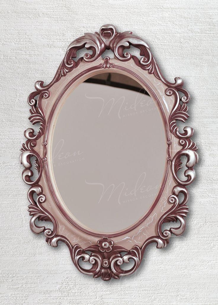 Овальное зеркало «Винтажное» Вино Серебро Кракелюр