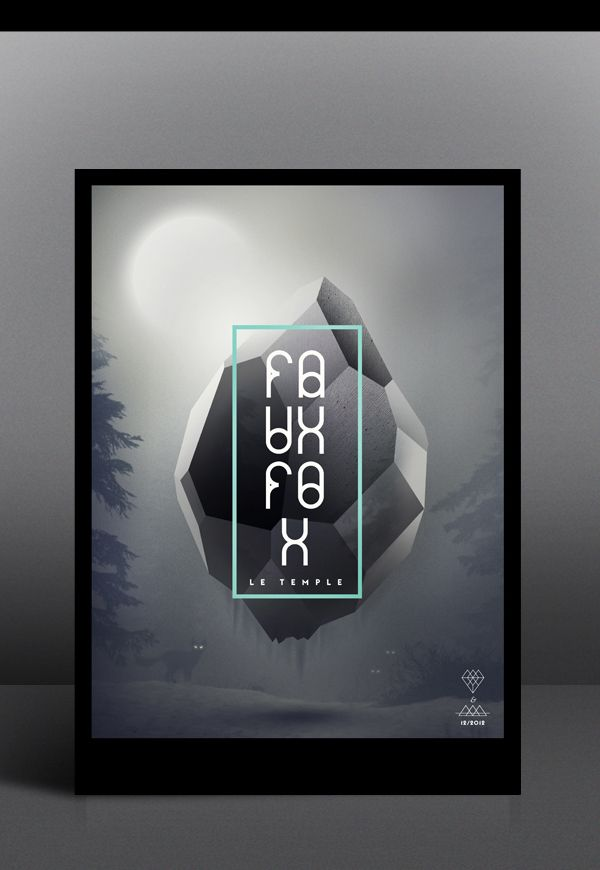 Faux Fox Temple by Tobias van Schneider, via Behance