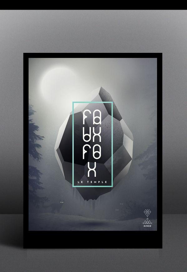 Faux Fox Temple by Tobias van Schneider, via Behance