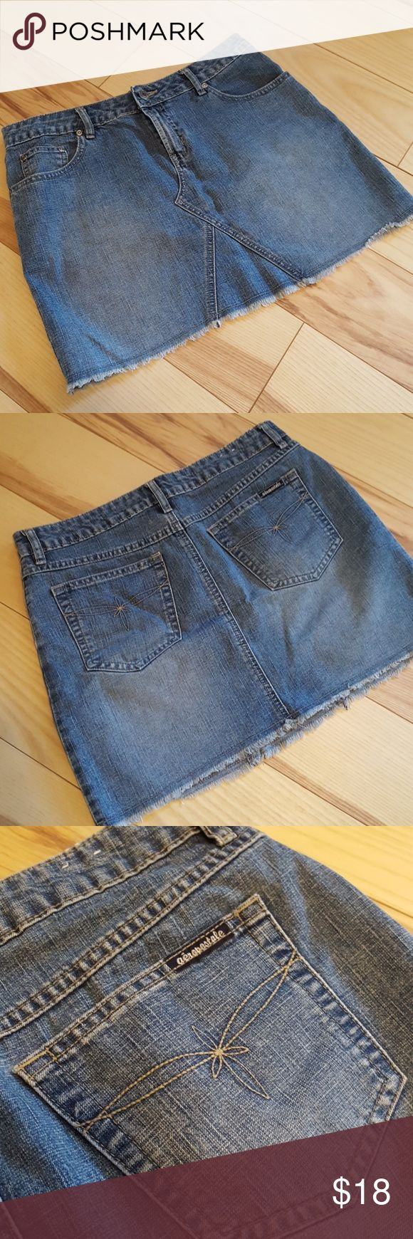 Denim mini skirt Aeropostale Denim mini skirt, size 3/4, small Aeropostale Skirts Mini