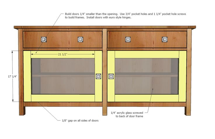 Ana White | Build a Benchmark Media Console | Free and Easy DIY Project and Furniture Plans
