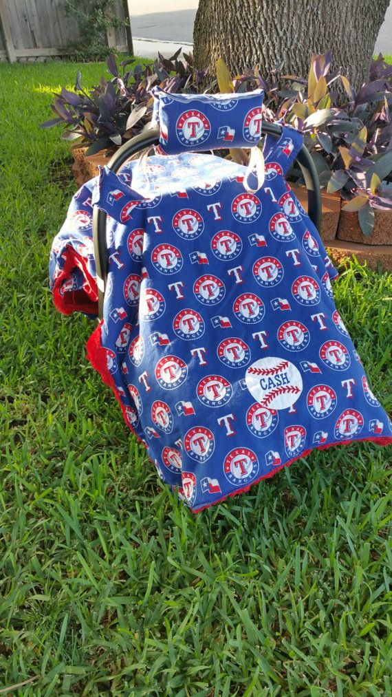 Texas Rangers Car seat Canopy MLB Carseat Rangers by ShaysStore