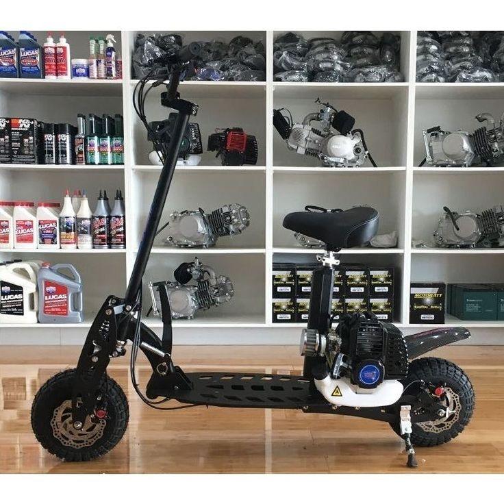 2 Stroke Petrol Powered Motor Scooter in Black 49cc | Buy Motorised Scooters