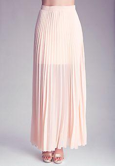 Petite Long Pleated Skirt