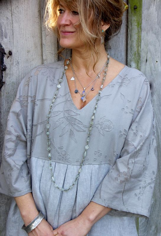 Terry Macey shirt - lovely embroidery and the necklaces are perfect too.