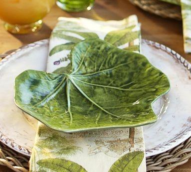 Ivy Leaf Outdoor Melamine Salad Plate, Set of 4 #potterybarn