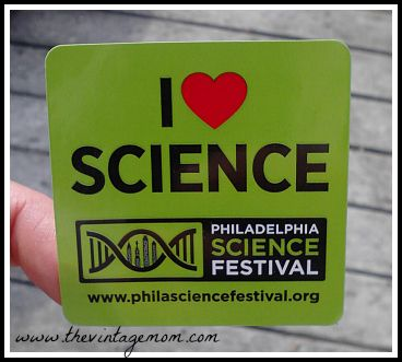 Science is COOL! The Philadelphia Science Festival is coming up...make sure to get there!
