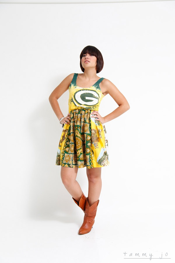 Green Bay Packers Game Day Dress...think I could convince Jake to get this for me?