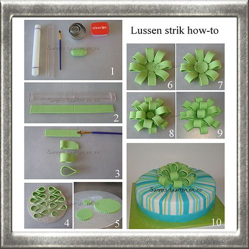 How to make a fondant bow www.hierishetfeest.com