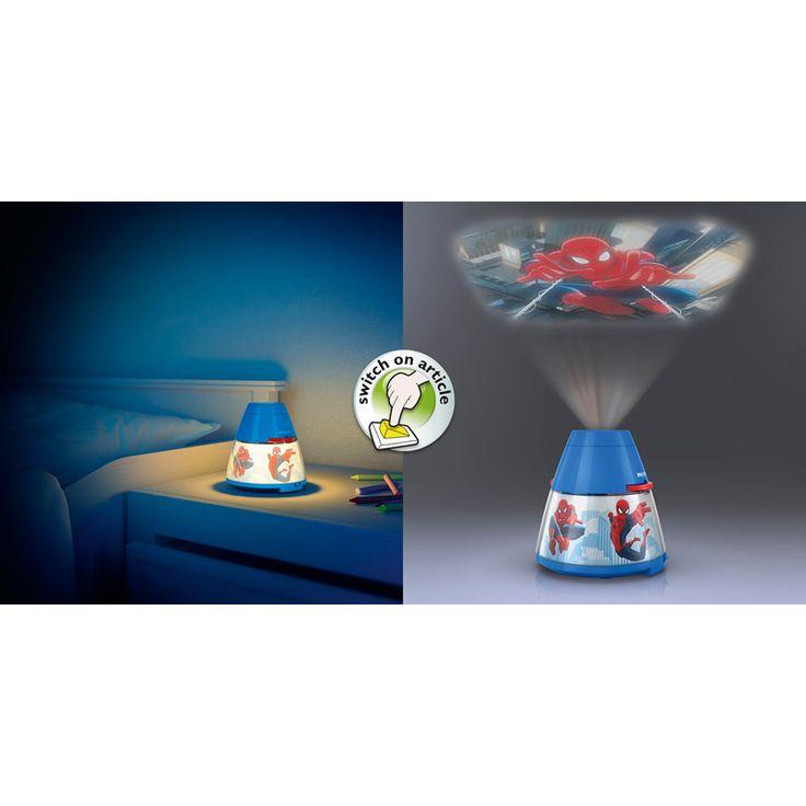 Kombinerad nattlampa och projektor Med denna roliga lampa kan barnet både få trygghet om natten och skapa fantasi på dagen. Vrid på filmhjulen och spela u