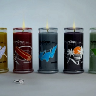 I love these candles! Each candle has a ring inside.