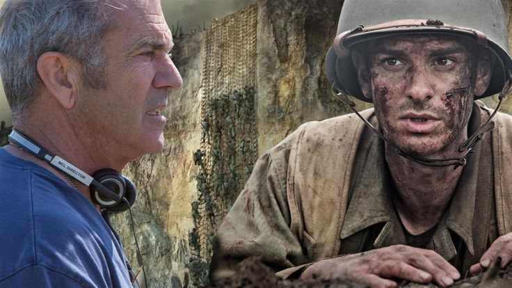 "Mel Gibson's signature themes, patriotism and faith, mark his directorial comeback in ""Hacksaw Ridge,"" the true story of Desmond T. Doss, the first conscientious objector to receive the Medal of Honor. Mark Kelly reports. Images: Lionsgate / Composite: Mark Kelly"