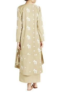 Khakee script print long jacket