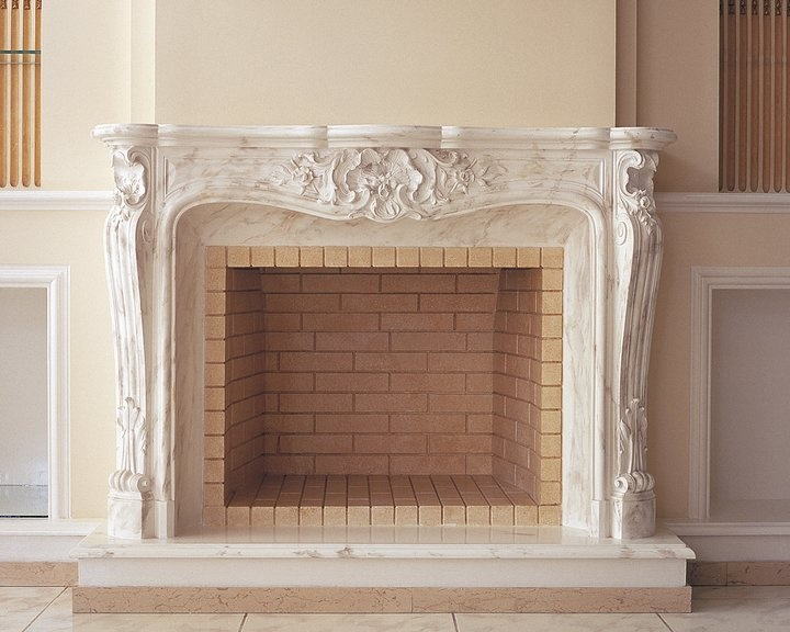 sample of a fireplace   from Hellenic Plasterwork showroom