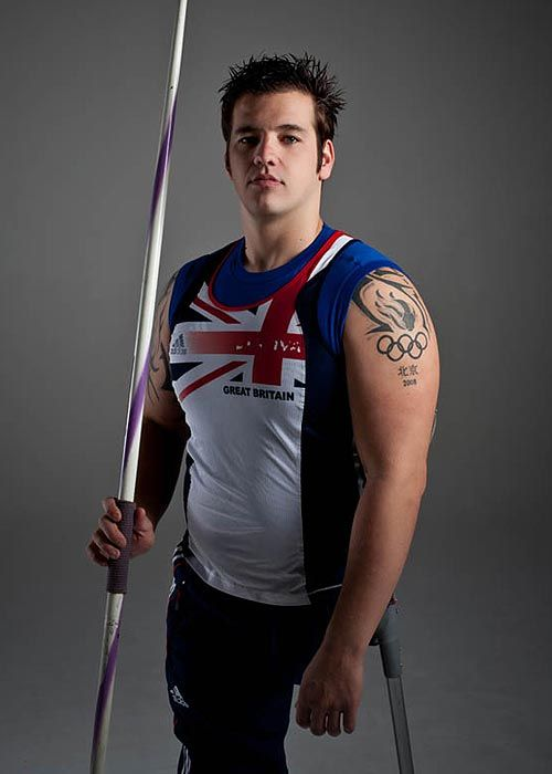 Nathan Stephens, going for gold in the 2012 olympics. Stephens lost both his legs in a train accident at age 9, but has still managed to achive a world-class status as a javelin thrower, and currently holds the world record distance (41.37m).