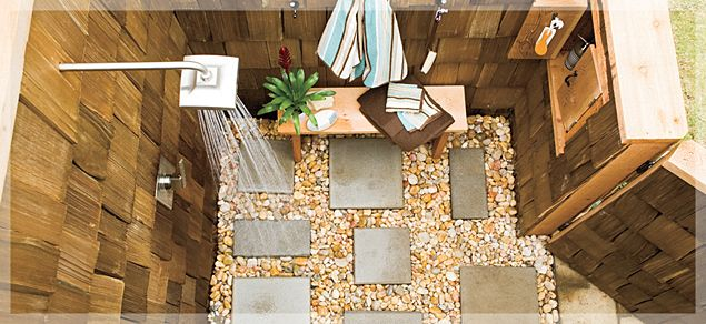 outdoor shower ideas | Build Your Own Outdoor Shower - Lowe's Creative Ideas
