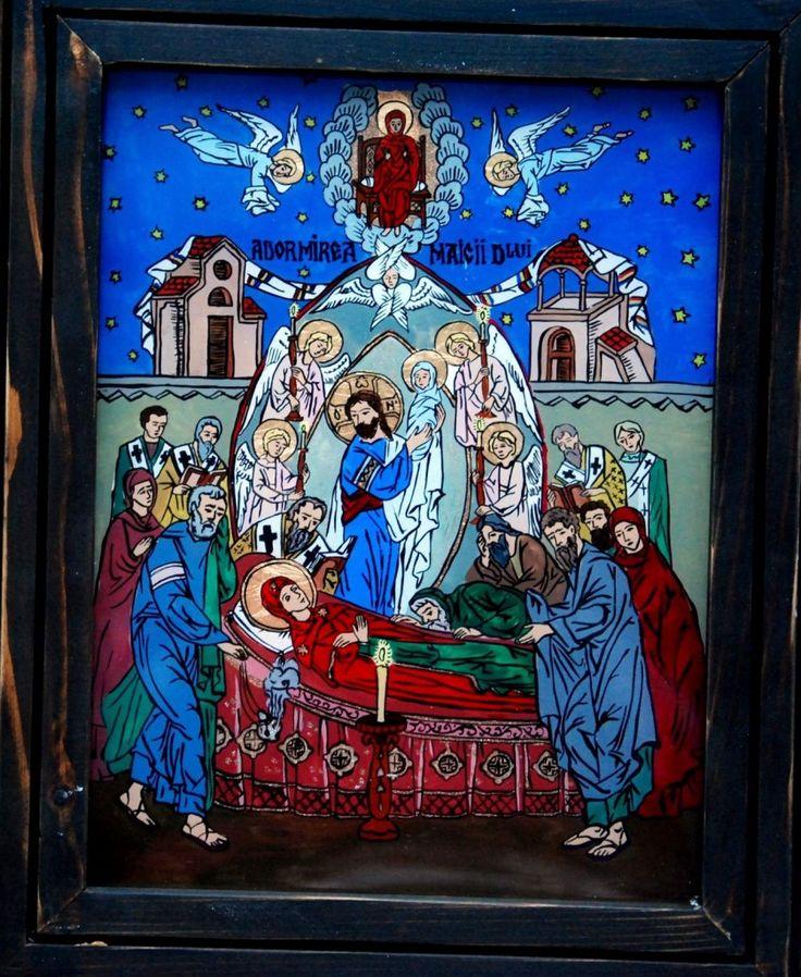 Adormirea Maicii Domnului este sarbatoarea care praznuieste Adormirea Sfintei Fecioare Maria. http://mirela-moldor.ro/icoane/adormirea-maicii-domnului/