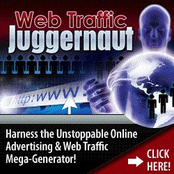 Web Traffic Juggernaut is a new site that says it guarantees more web visitors and online advertising with very little effort or cost. So I decided to put it to the test... My first impression was the site looks professional and clean