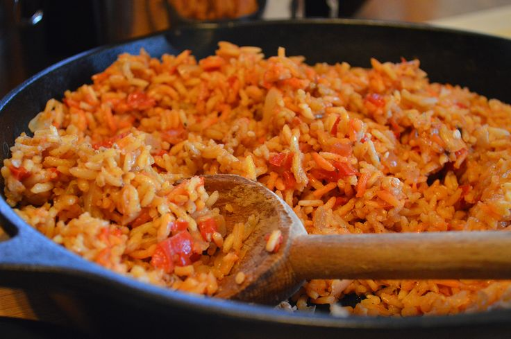 An easy Spanish Rice dish flavored with onions, garlic, peppers and tomatoes, this is an ideal side for much more than tacos and burritos.
