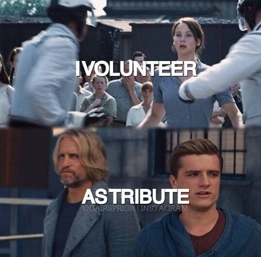 """""""People forget that Peeta also volunteered. He didn't have to go back. He volunteered so he could protect Katniss."""""""
