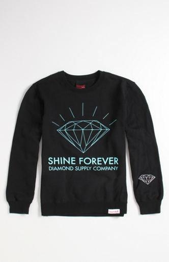 Diamond Supply Co Shine Forever Logo Crew Fleece at PacSun.com