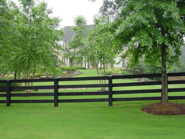 wood rail fences designs | ... image of recent wood split board fence and split rail fence projects