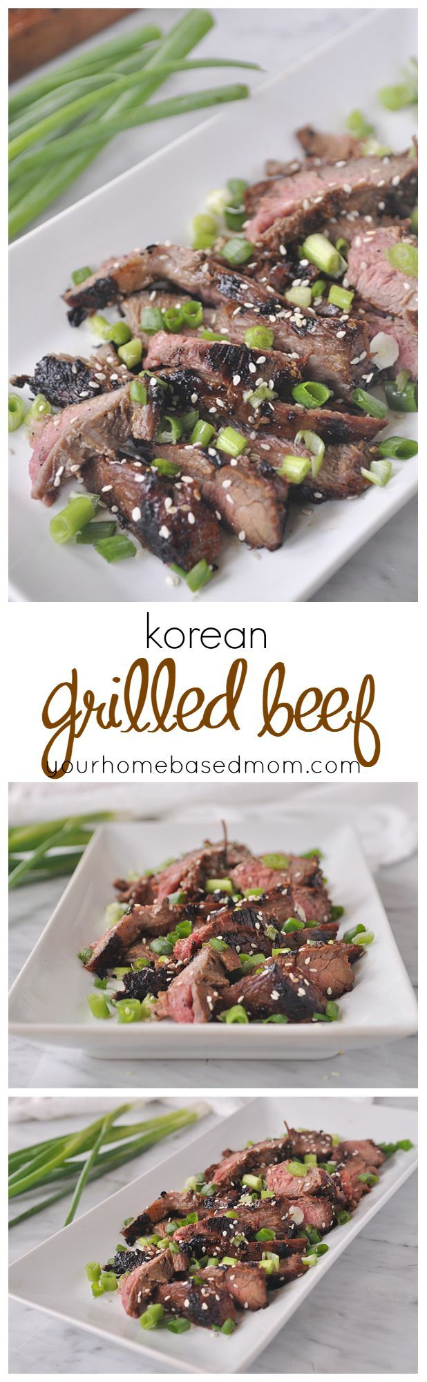 Korean Grilled Beef is the perfect thing to throw on the grill on a warm summer night.