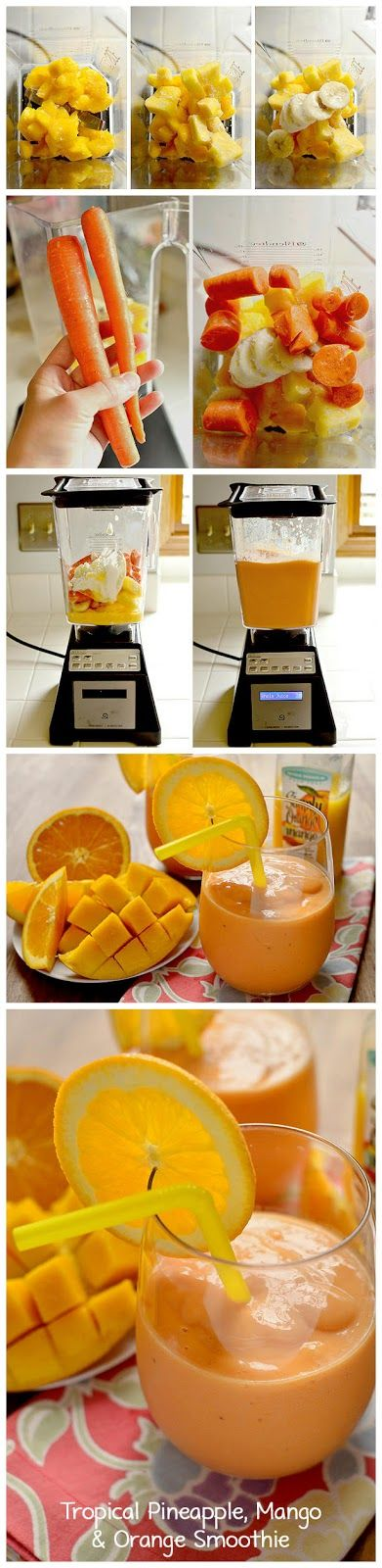 Tropical Pineapple, Mango & Orange Smoothie