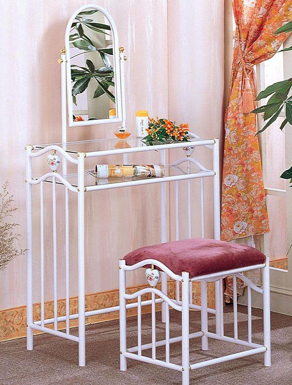 white metal vanity set. Adilyn White Metal Makeup Vanity Table Set  metalvanity 39 best Tables images on Pinterest vanities