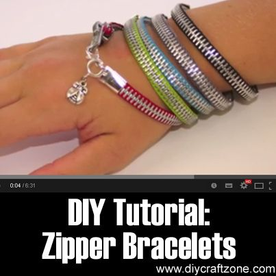 DIY Tutorial - Zipper Bracelets Cute and very simple.