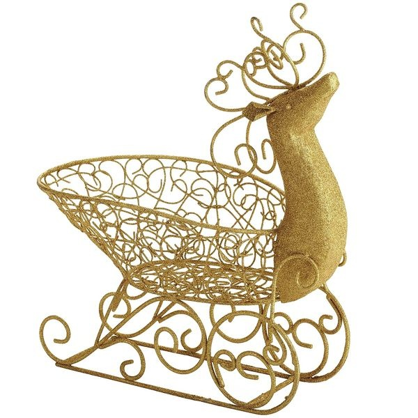 Pier 1 Reindeer Sleigh Basket. So cute to hold all the Christmas cards!!
