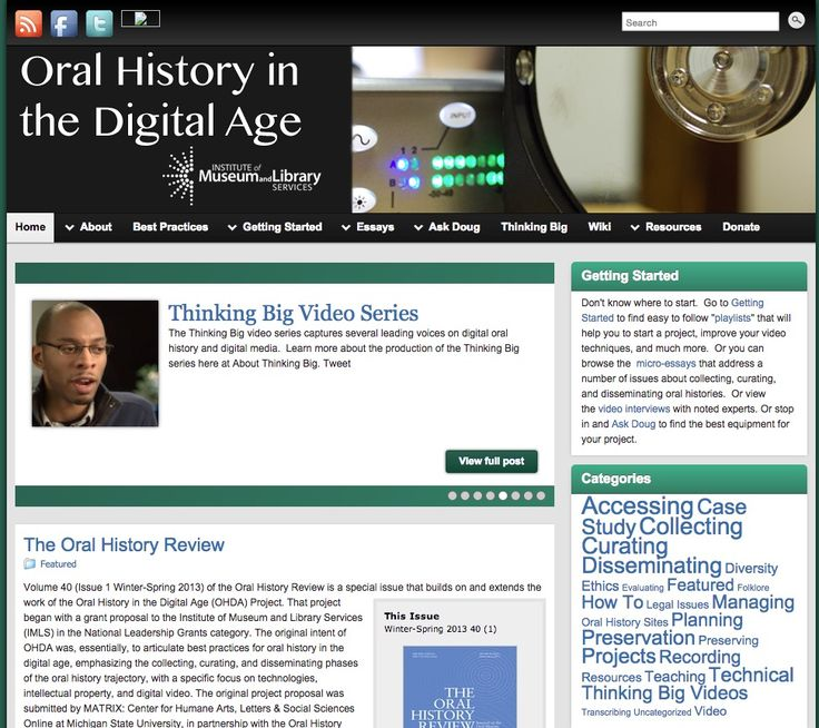 Oral History in the Digital Age  Oral history is in a profound transition, from…