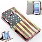 Hot Flip Leather Flag Pattern Wallet Case Cover For Samsung Galaxy Ace 3 S7272