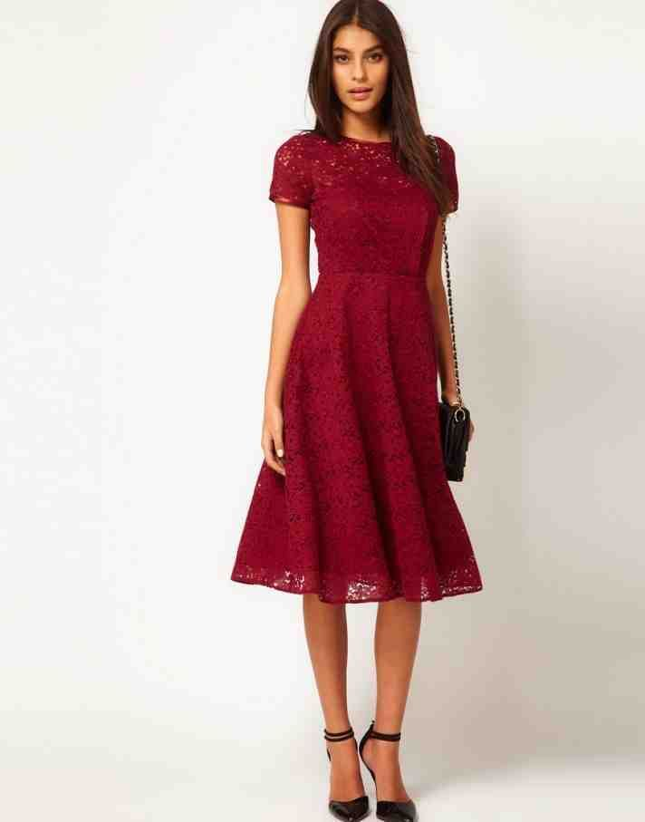 Modest Red Bridesmaid Dresses