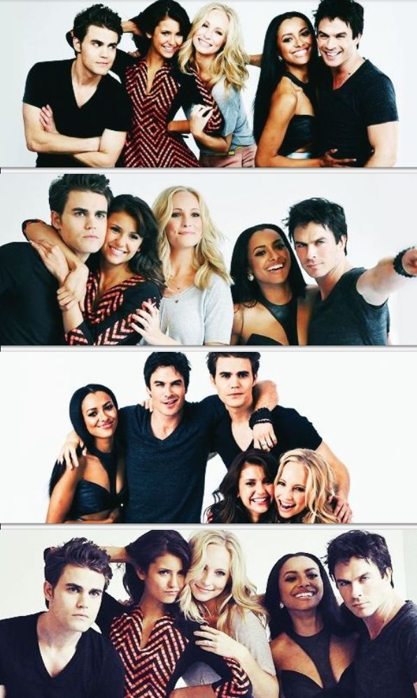 The Vampire Diaries Cast - Comic Con 2013. Besides the fact that I don't like Kat Graham really...